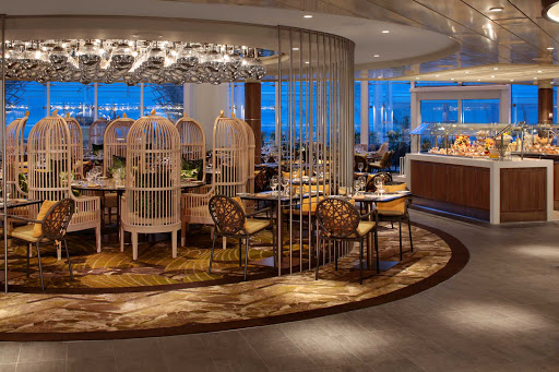 Shhh! The Solarium Bistro is one of the best-kept secrets on Symphony of the Seas for a relaxing meal.