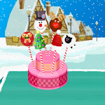 Cooking Christmas Cake Pops Icon