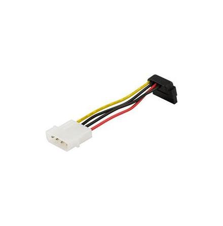 DELTACO strömkabel för Serial ATA hårddiskar, vinklad kont