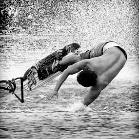 Jump fail by Frederiko Ferry - Sports & Fitness Watersports ( ski, water ski, pwcwatersports, jumping, sports, board, people, man, jump )