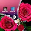 Pink Rose Zipper Lock Screen icon