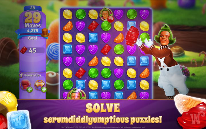 Willy Wonka's Sweet Adventure –A Match 3 Game v1.5.968 [Mod]