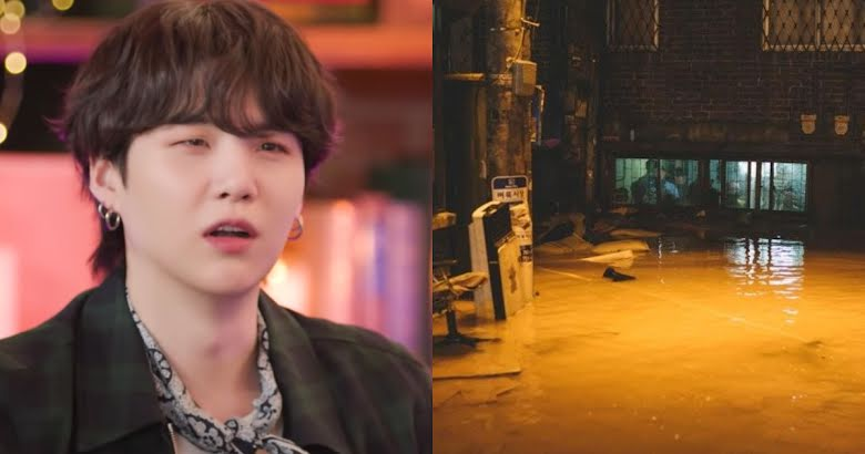 Suga din BTS a dezvăluit faptul că în trecut studioul i-a fost inundat
