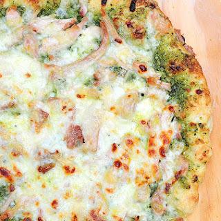 Pesto Chicken Homemade Pizza