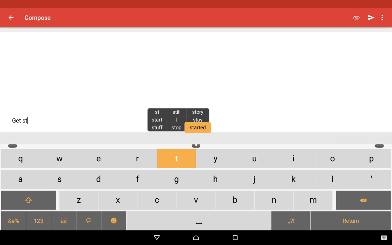 Zimpl Keyboard- screenshot