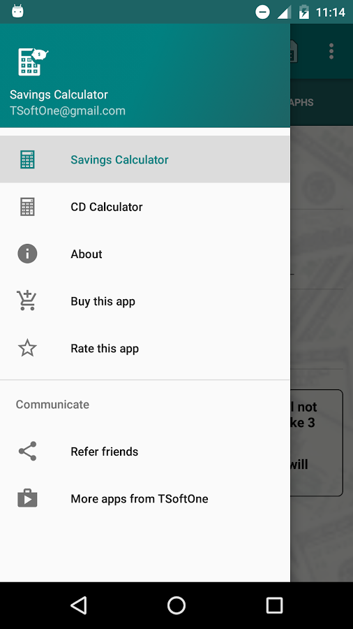 Savings Calculator- screenshot