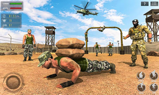 us army training school game: obstacle course race screenshot 1
