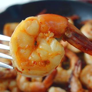 Chili and Maple Syrup Glazed Shrimp.