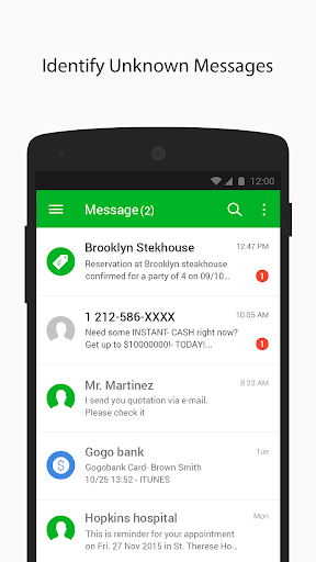 Whoscall SMS-Message ID Block