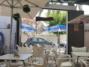 Photo: Parked right outside the restaurant - la Terrassela de Saur