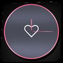 Pink Love Clock Widget icon
