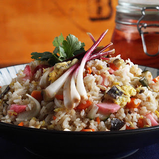 Egg-Fried Rice with Pickled Vegetables.
