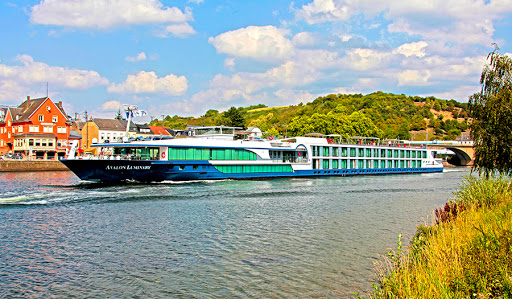 Avalon Luminary cruising Germany along the Moselle River.