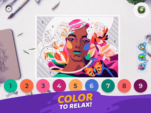 Gallery: Coloring Book by Number & Home Decor Game filehippodl screenshot 10