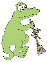 Photo: Coccodrago Otto e le pulizie di casa