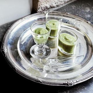 Zucchini Soup with Crème Fraîche