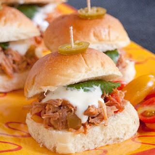 Southwest Pulled Pork Sliders from the Slow Cooker