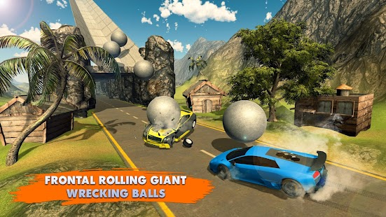 Chained Cars Rolling Ball Crash - náhled