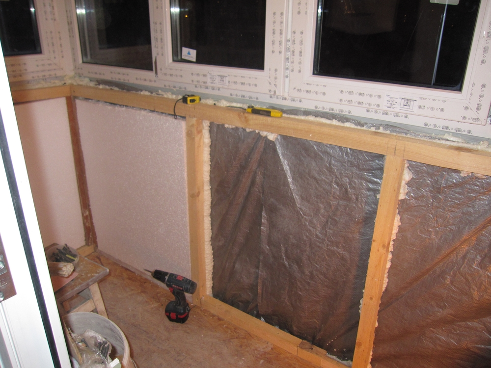 Утепление стен балкона/лоджии