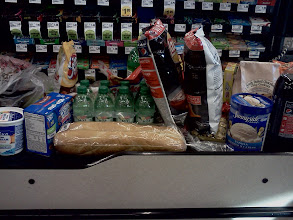 Photo: We loaded the belt with our groceries, my daughters were sneaky and grabbed some extras while I wasn't paying attention.