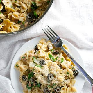 Tuna and Olive Pasta.