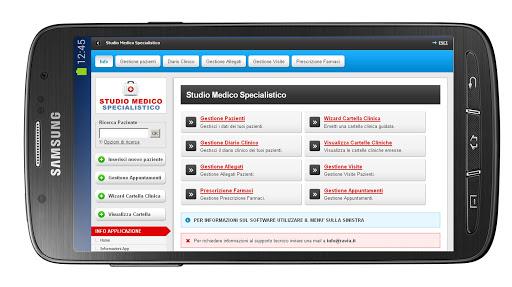 Studio Medico Tablet in Cloud