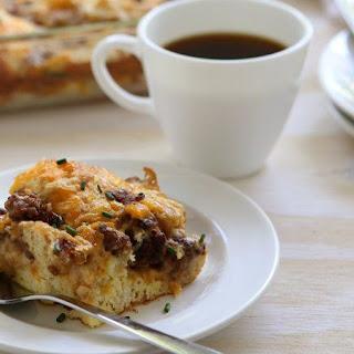 Biscuits and Gravy Breakfast Bake.