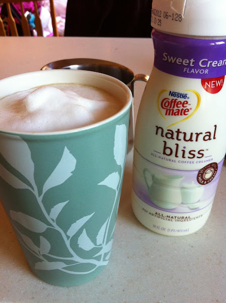 Photo: Ah, a great way to start a morning, but I need more Natural Bliss so I'm heading to Walmart!