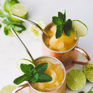 Frozen Peach Bourbon Mule