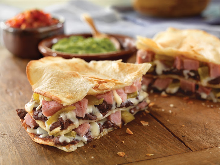 Layered Ham and Cheese Quesadillas Recipe