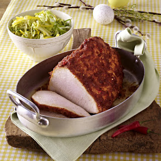 Honey Crusted Turkey with Shredded Cabbage Salad.