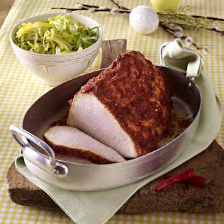 Honey Crusted Turkey with Shredded Cabbage Salad.