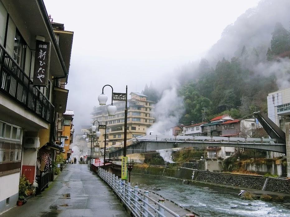 温泉街の風景