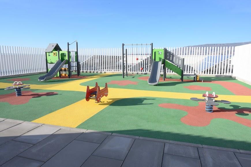 Zona de juegos al aire libre.