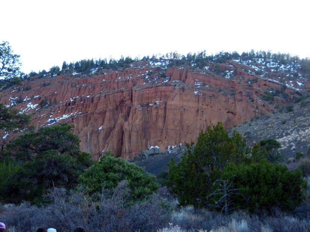Photo: Red Mountain interior. Weird erosion already obvious.