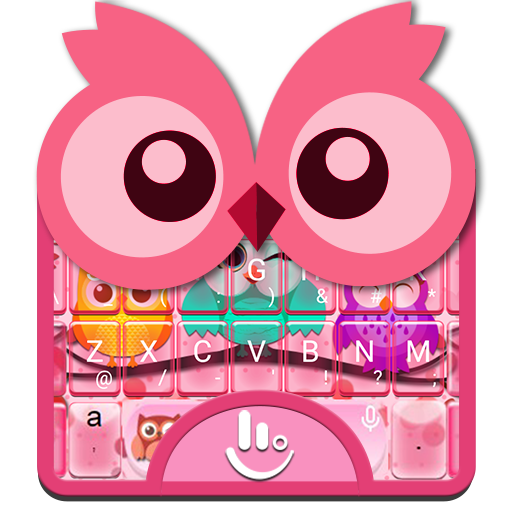 Colourful Owl Keyboard Theme