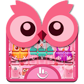 Colourful Owl Keyboard Theme