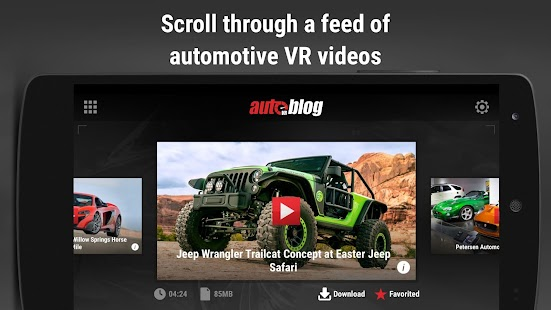 AutoblogVR- screenshot thumbnail