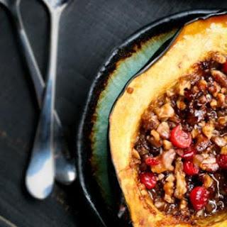 Roasted Acorn Squash w/ Walnuts & Cranberries.