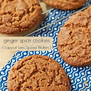 Ginger-Molasses Spice Cookies (copycat Ivins' Famous Spice Wafers)