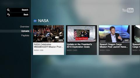 YouTube for Google TV Screenshot 4