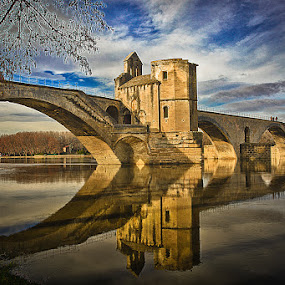 Le pont d'Avignon by Zajac David - Landscapes Waterscapes ( hdr, town, landscape )