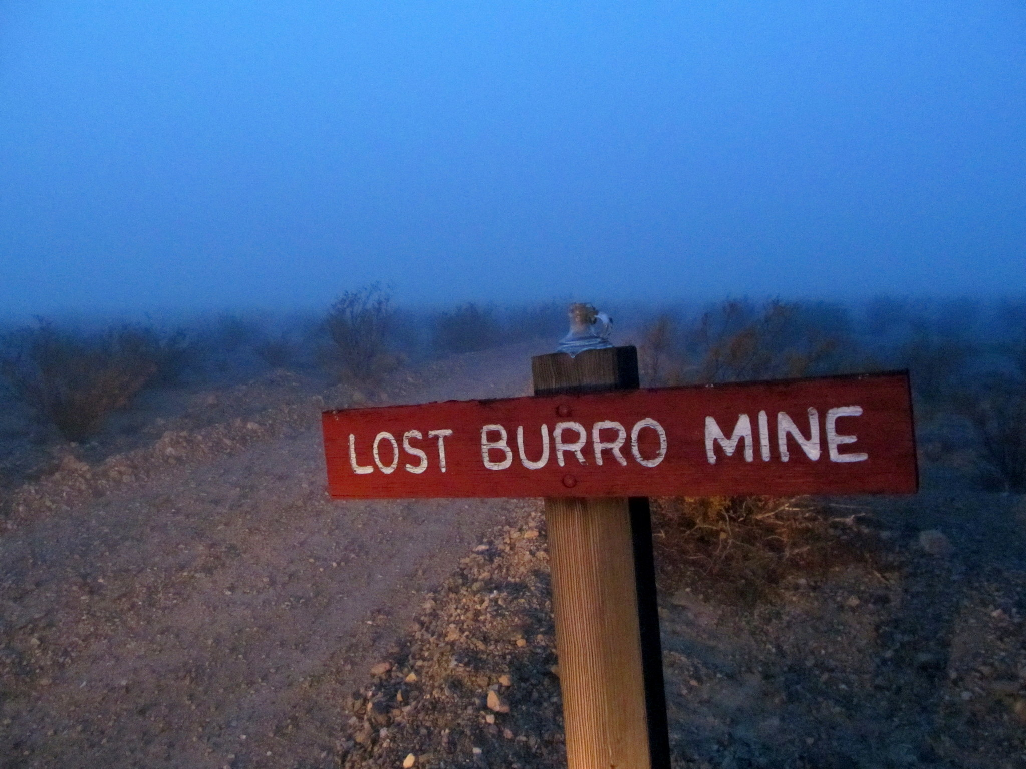 Photo: Sign for the Lost Burro Mine