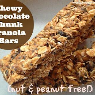 Chewy Chocolate Chunk Granola Bars (nut-free!)