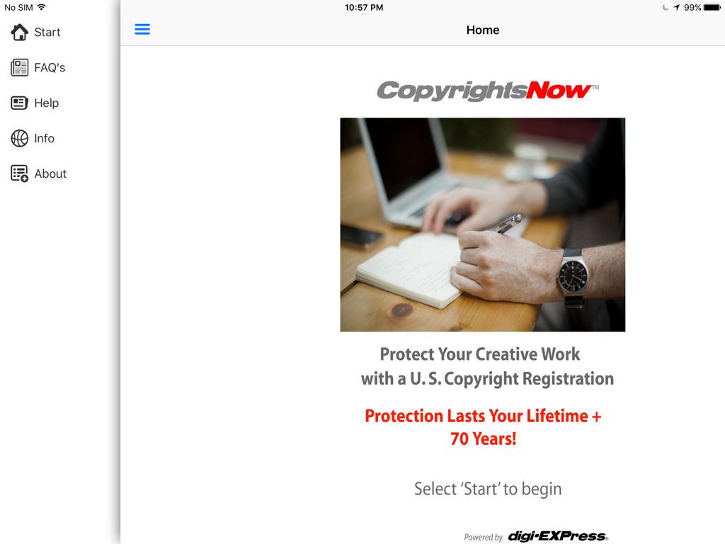 CopyrightsNow- screenshot