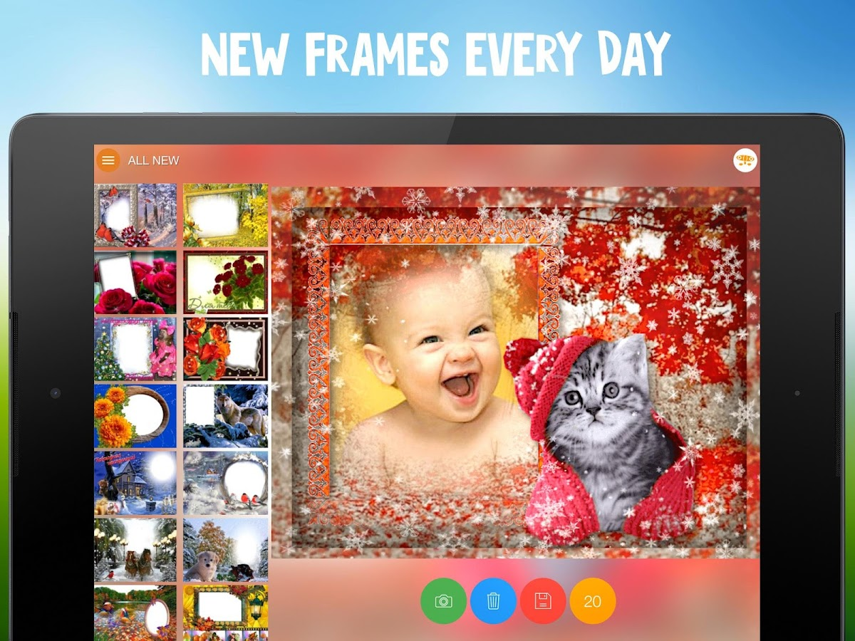 Webka: Photo Frames Editor and Pic Collage Maker- screenshot