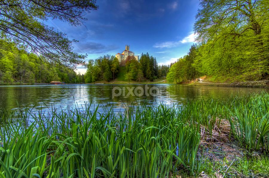 Trakoscan by Boris Frković - Travel Locations Landmarks ( water, trakoscan, pwclandmarks, green, castle, lake )