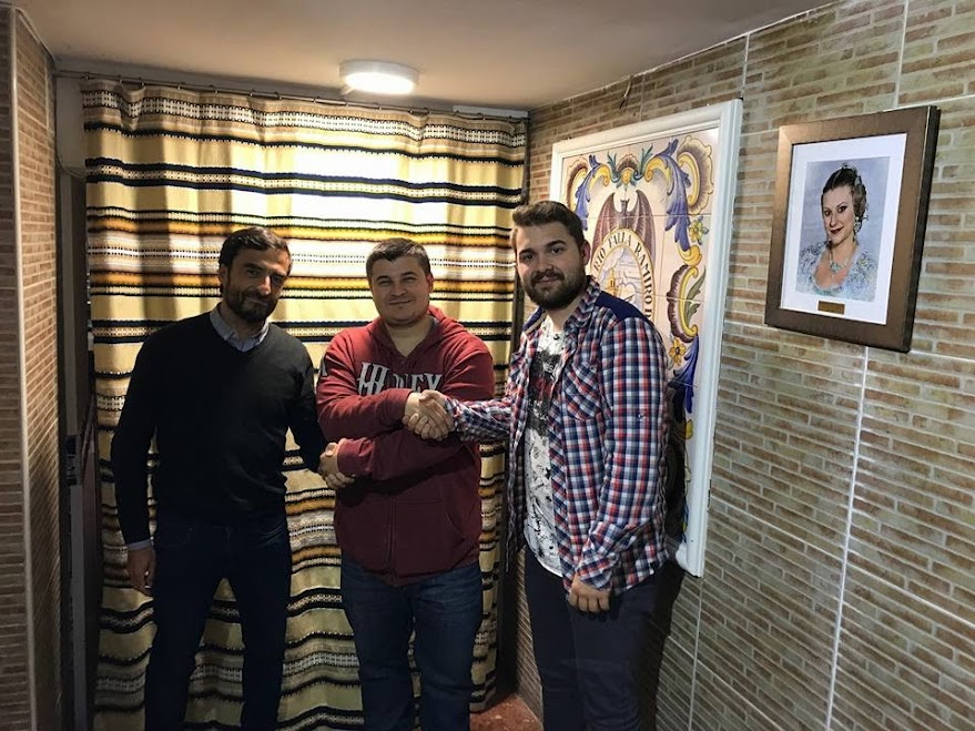 Álvaro Guija y Iván Martínez artistas falleros 2018 de Ramiro de Maeztu-Humanista Furio