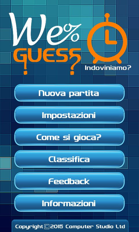 Il Quiz mai visto: WeGuess- screenshot