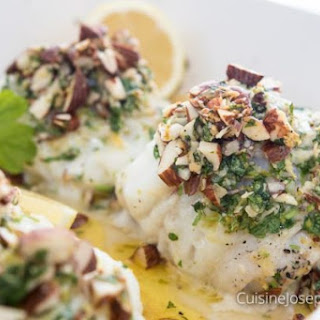 Baked Fish with Almond Gremolata.